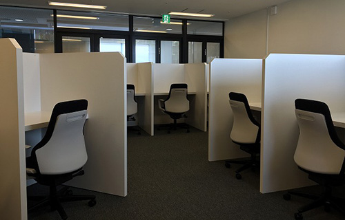 shared desk area