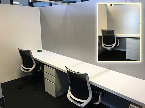 半獨立辦公室 2-3名 (1名)