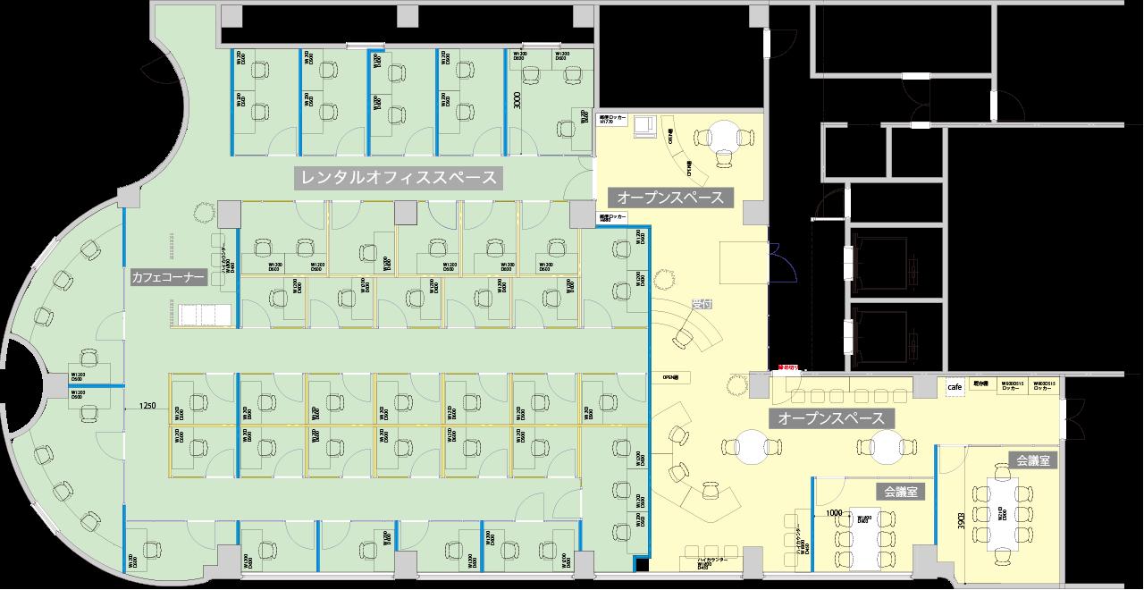 大阪レンタルオフィス レイアウト図